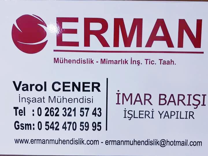 Erman Mühendislik Mimarlık İnş. Tic. Taah. Ltd. Şti.