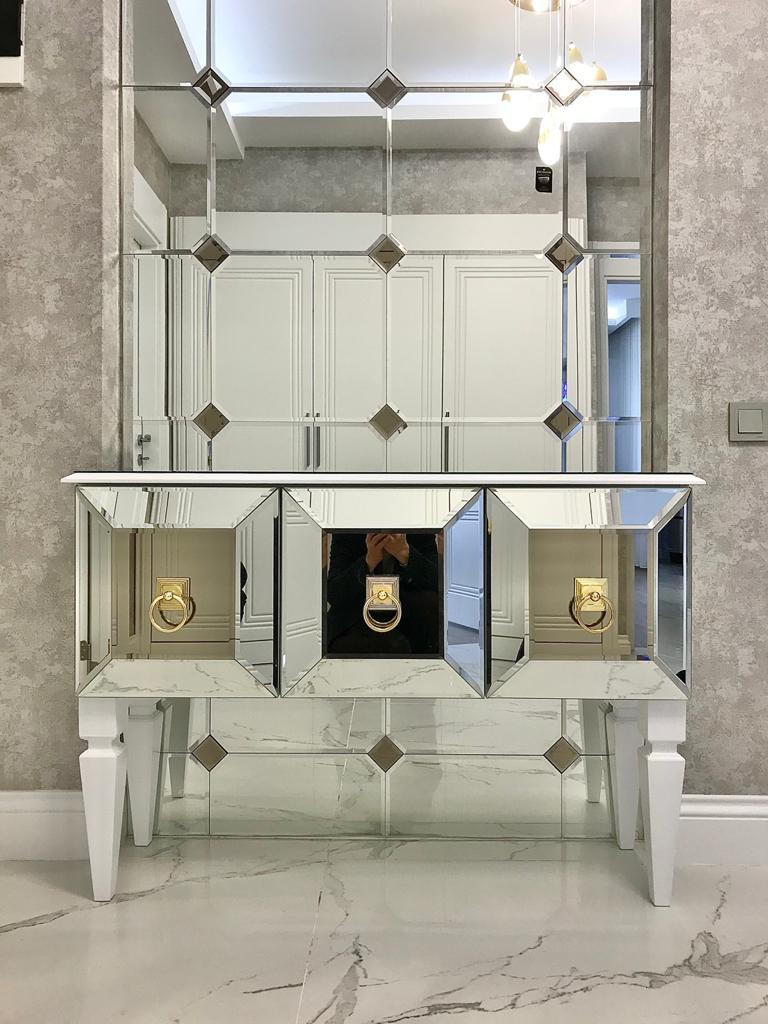 Aynacızade Ayna Cam Vitray Salon Aynası Dresuar Ayna Takımı